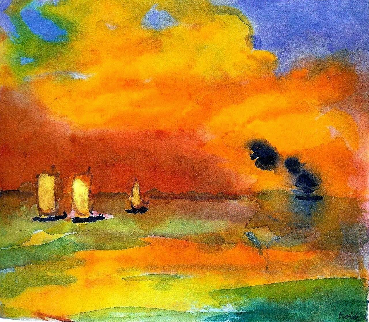 Emil Nolde - sail boats