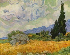 Campo di grano con cipressi, 1889