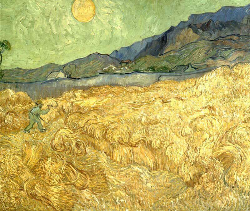 Campo di Grano con mietitore, 1889