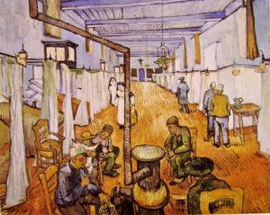 Corsia dell'ospedale di Arles, 1889