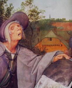 """Particolare del quadro """"La parabola dei ciechi"""", di P.Bruegel il Vecchio, 1568"""